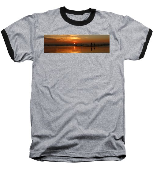 Family Reflections At Sunset - 4 Baseball T-Shirt