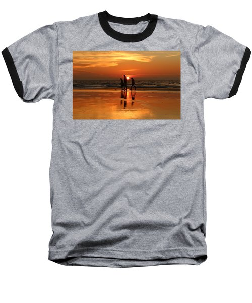 Family Reflections At Sunset - 1 Baseball T-Shirt