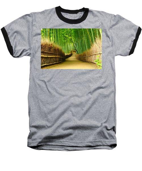 Famous Bamboo Grove At Arashiyama Baseball T-Shirt