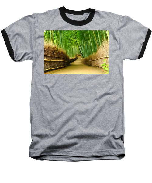Famous Bamboo Grove At Arashiyama Baseball T-Shirt by Lanjee Chee