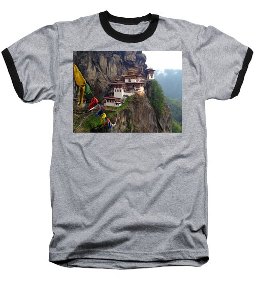Famous Tigers Nest Monastery Of Bhutan 10 Baseball T-Shirt
