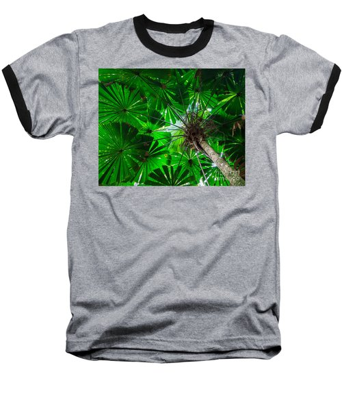 Fan Palm Tree Of The Rainforest Baseball T-Shirt