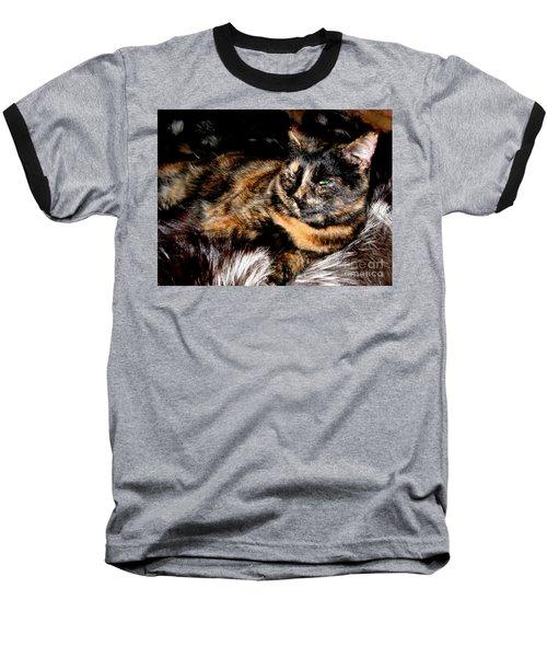 Fancy Cat Baseball T-Shirt