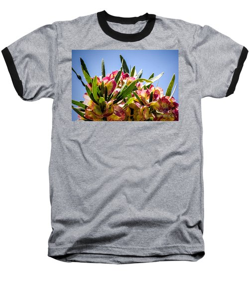 Fanned Flowers Baseball T-Shirt
