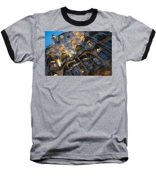 Fantastical Casa Batllo - Antoni Gaudi Barcelona Baseball T-Shirt