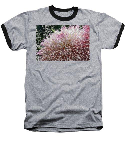 Fantasy Dahlia Baseball T-Shirt by Denyse Duhaime