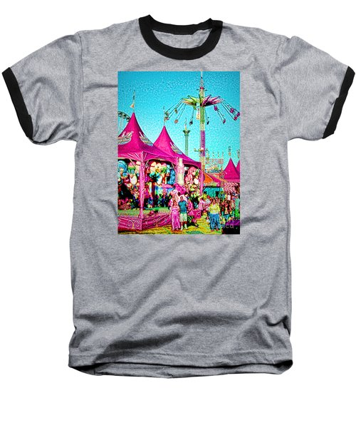 Baseball T-Shirt featuring the digital art Fantasy Fair by Jennie Breeze