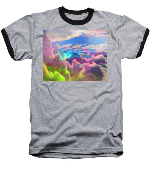 Abstract Fantasy Sky Baseball T-Shirt