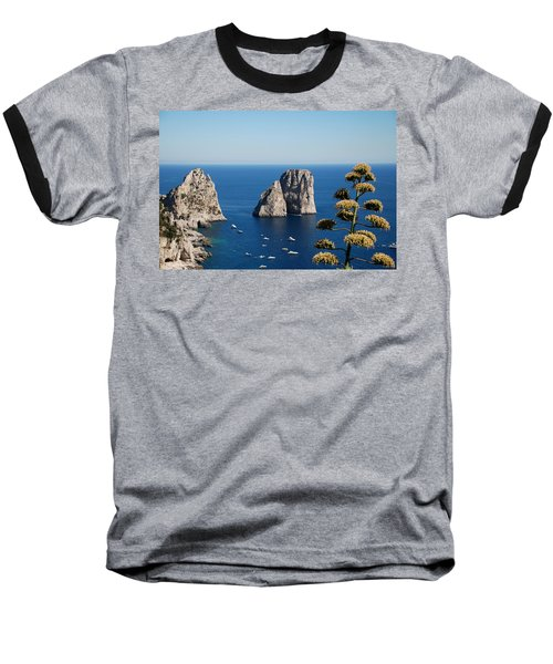 Faraglioni In Capri Baseball T-Shirt