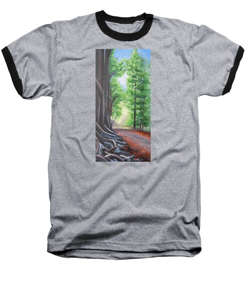 Baseball T-Shirt featuring the painting Faraway by Jane  See