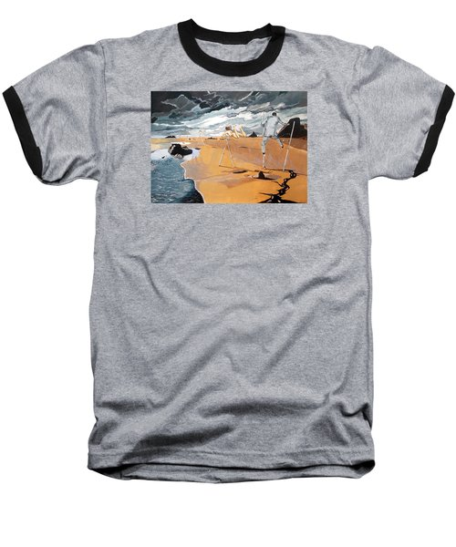 Baseball T-Shirt featuring the painting Faraway Lejanias by Lazaro Hurtado