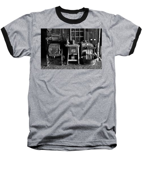 Farm Antiques Baseball T-Shirt by Richard J Cassato