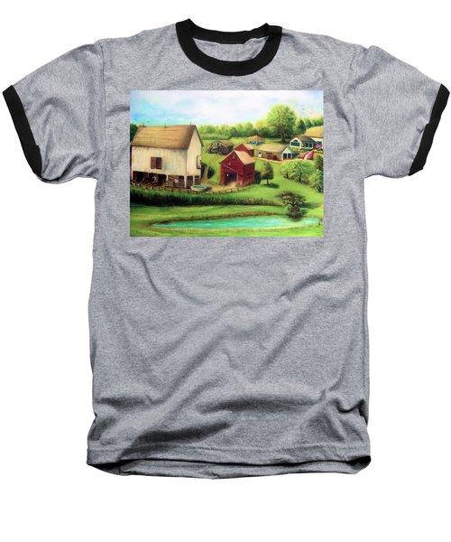 Baseball T-Shirt featuring the painting Farm by Bernadette Krupa