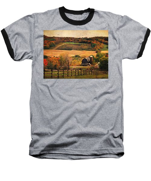 Farm Country Autumn - Sheldon Ny Baseball T-Shirt