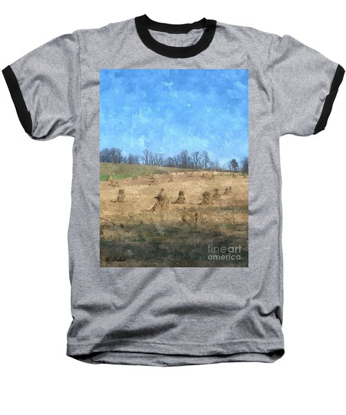 Baseball T-Shirt featuring the painting Farm Days 2 by Sara  Raber