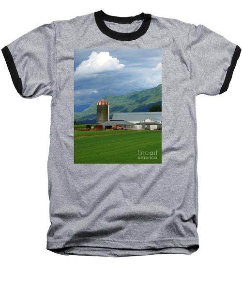 Farm In The Valley Baseball T-Shirt by Ann Horn