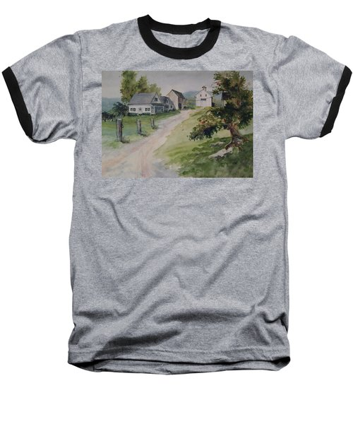 Farm On Orchard Hill Baseball T-Shirt by Joy Nichols