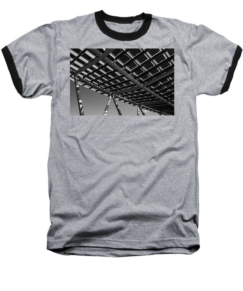 Farming The Sun - Architectural Abstract Baseball T-Shirt by Steven Milner