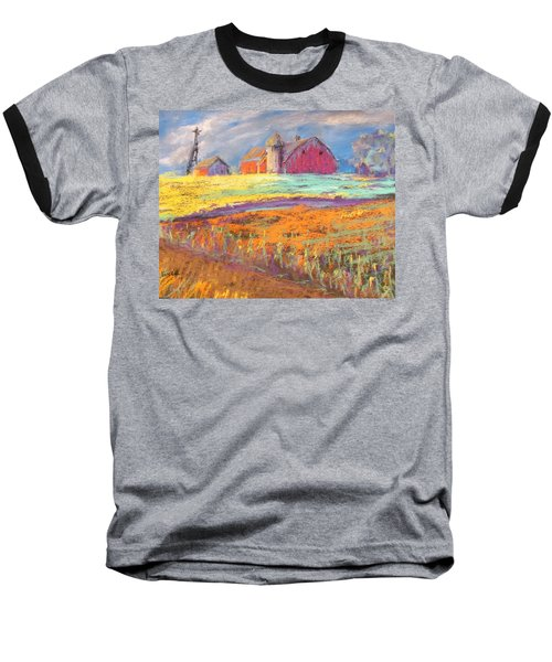 Farmland Sunset Baseball T-Shirt