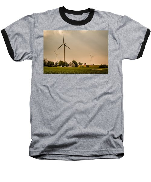 Farms And Windmills Baseball T-Shirt