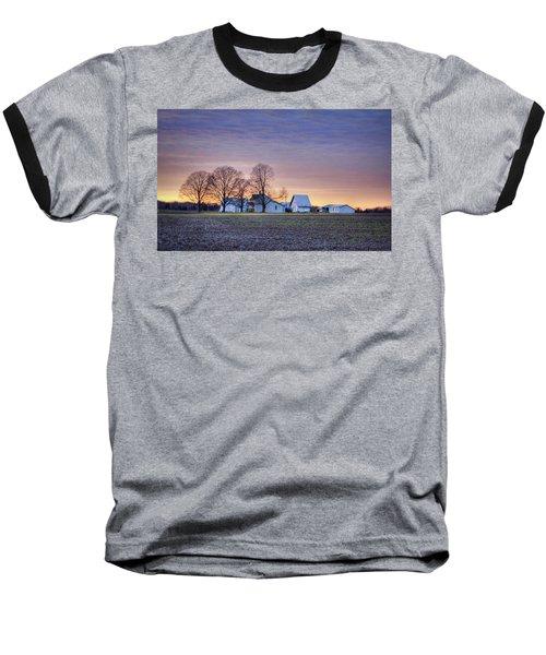 Farmstead At Sunset Baseball T-Shirt