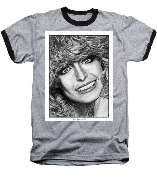 Farrah Fawcett In 1976 Baseball T-Shirt by J McCombie