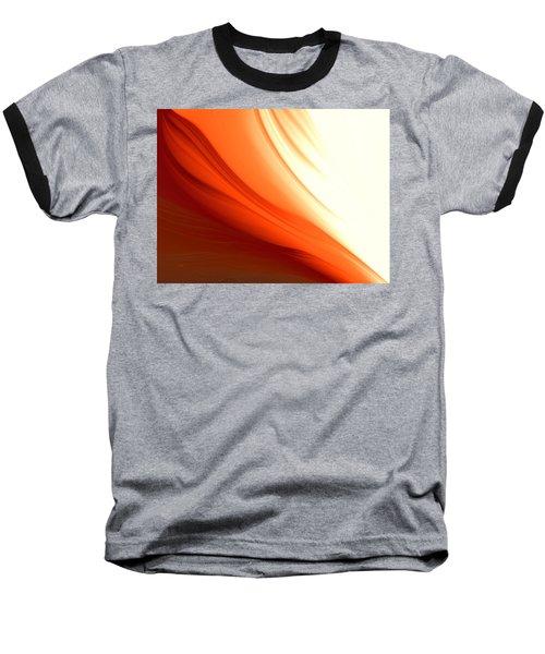Baseball T-Shirt featuring the digital art Glowing Orange Abstract by Gabriella Weninger - David