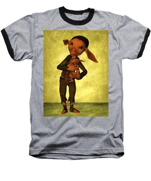 Baseball T-Shirt featuring the digital art Father And Son by Gabiw Art