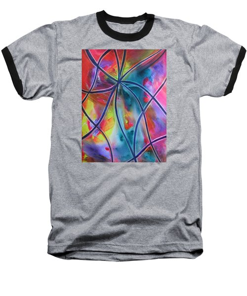 Faux Stained Glass 1 Baseball T-Shirt