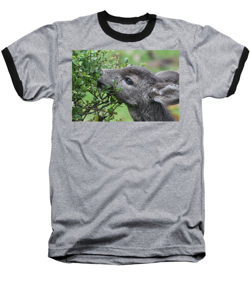 Fawn In The Rain Baseball T-Shirt