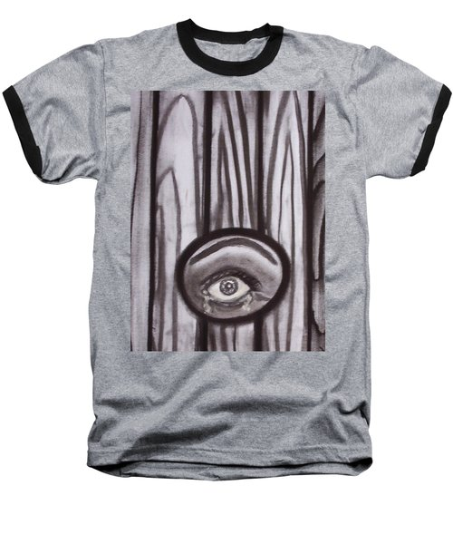 Fear - Eye Through Fence Baseball T-Shirt