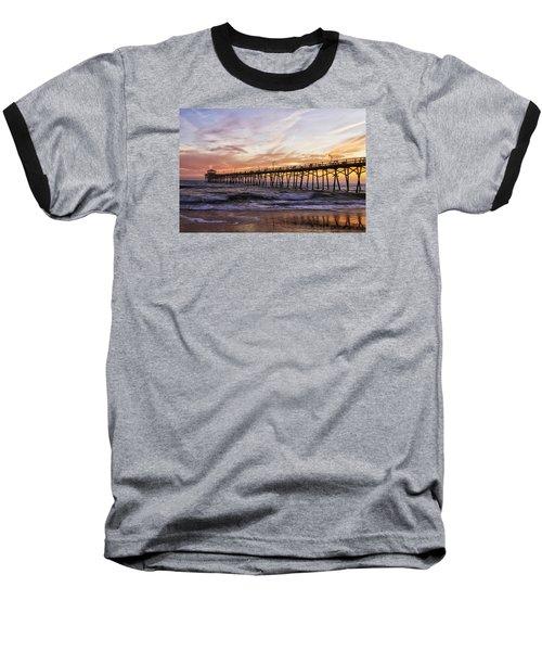 Baseball T-Shirt featuring the photograph Febuary Sunset On Atlantic Beach by Bob Decker