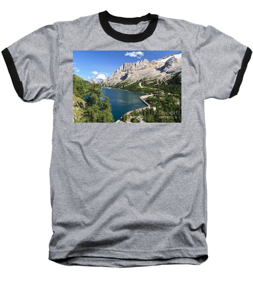 Baseball T-Shirt featuring the photograph Fedaia Pass With Lake by Antonio Scarpi
