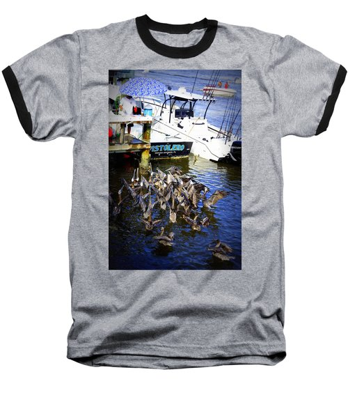 Baseball T-Shirt featuring the photograph Feeding Frenzy by Laurie Perry