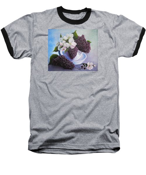 Baseball T-Shirt featuring the painting Feel The Fragrance by Vesna Martinjak