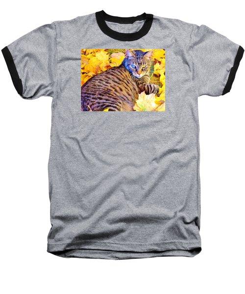 Baseball T-Shirt featuring the photograph Feeling Fall by Marilyn Diaz