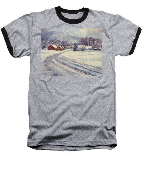Felchville Village In The Snow Baseball T-Shirt