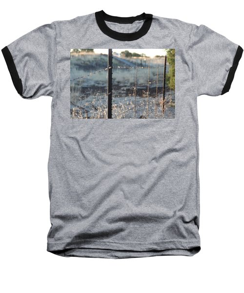 Fence Baseball T-Shirt by David S Reynolds