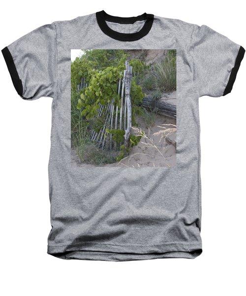 Fence N Sand Baseball T-Shirt