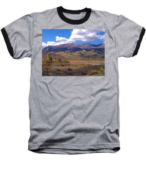 Fenced Nature Baseball T-Shirt by Fortunate Findings Shirley Dickerson