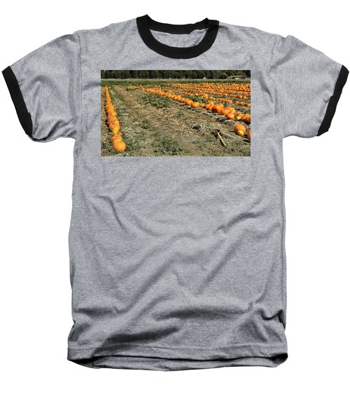 Baseball T-Shirt featuring the photograph Fencing The Pumpkin Patch by Michael Gordon