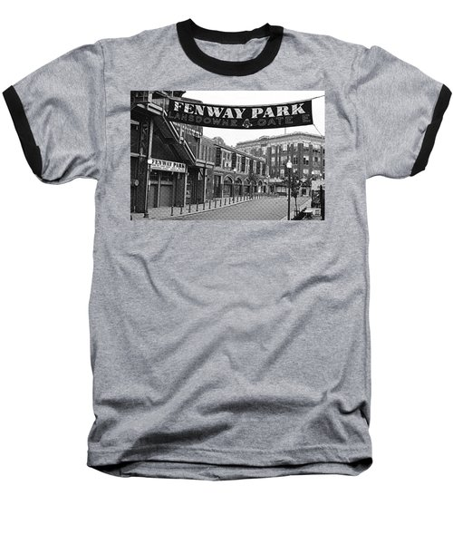 Fenway Park Banner Black And White Baseball T-Shirt