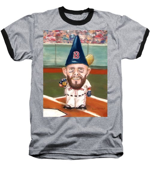 Baseball T-Shirt featuring the painting Fenway's Garden Gnome by Jack Skinner