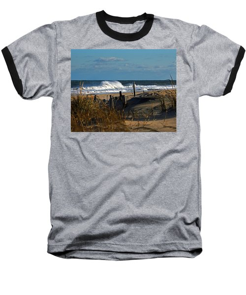 Fenwick Dunes And Waves Baseball T-Shirt