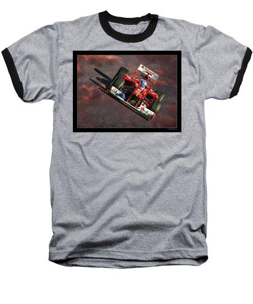 Fernando Alonso Ferrari Baseball T-Shirt