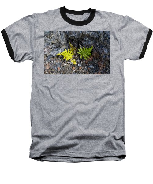 Ferns In Volcanic Rock Baseball T-Shirt