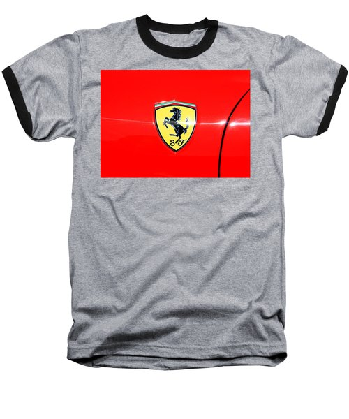 Ferrari Logo Baseball T-Shirt by Valentino Visentini