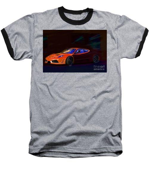 Baseball T-Shirt featuring the photograph Ferrari Shadow by Gunter Nezhoda