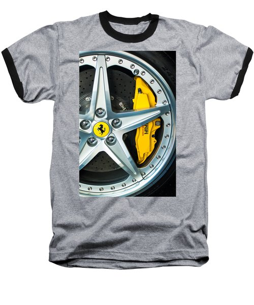 Ferrari Wheel 3 Baseball T-Shirt by Jill Reger