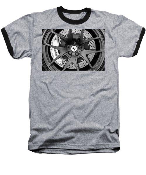 Ferrari Wheel Emblem - Brake Emblem -0430bw Baseball T-Shirt